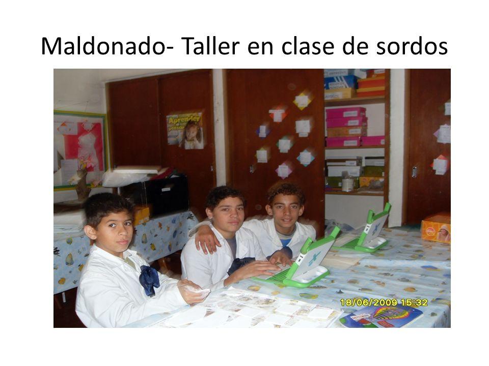 Maldonado- Taller en clase de sordos