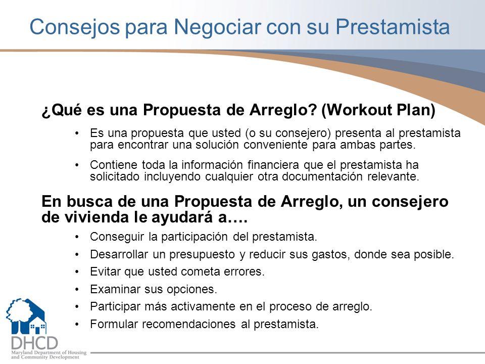 Consejos para Negociar con su Prestamista ¿Qué es una Propuesta de Arreglo.