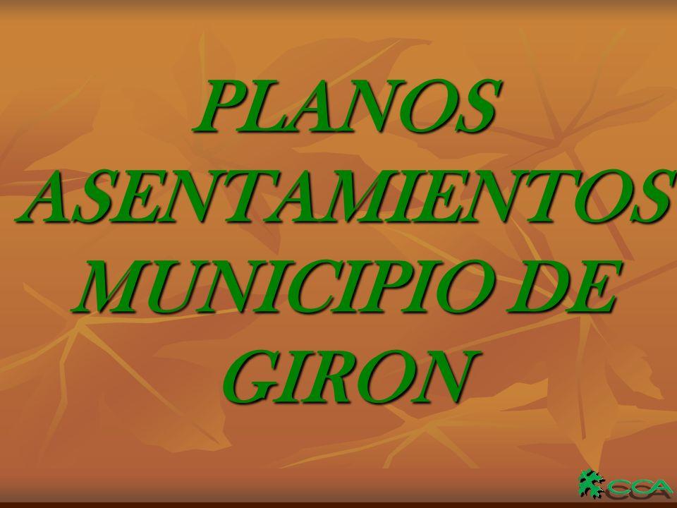 PLANOSASENTAMIENTOS MUNICIPIO DE GIRON