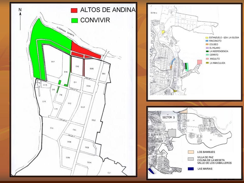 Altos de Andina.106 familias. Coordenadas: 1100363-1276823 mas o menos 45 Convivir.