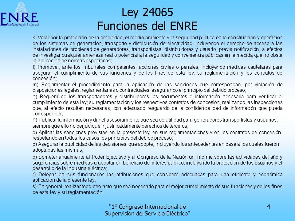 1° Congreso Internacional de Supervisión del Servicio Eléctrico 25 Localización geográfica 2 5 km