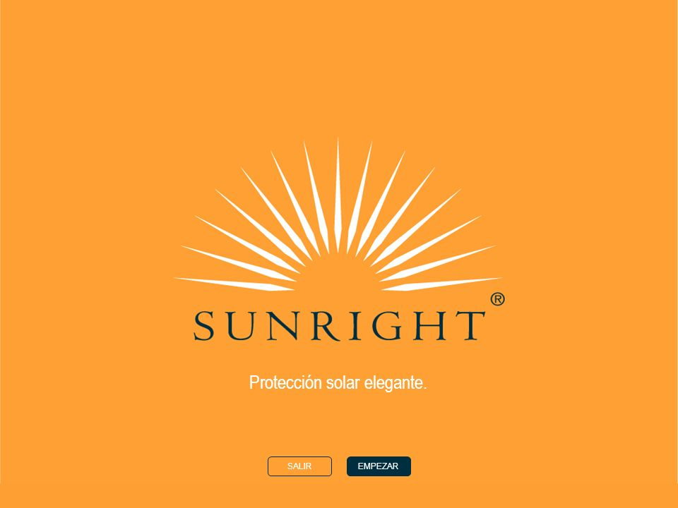 CASAANTERIORSIGUIENTE El sol El tipo de tono de su piel Ingredientes sunright ® Productos sunright ® ©Nu Skin Europe 2002 Elegante protección solar El Sol Cuando llega el verano,algunos de nosotros desea obtener un hermoso bronceado.