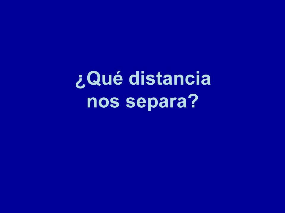 ¿Qué distancia nos separa