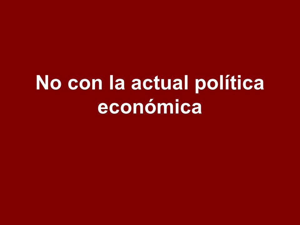 No con la actual política económica -
