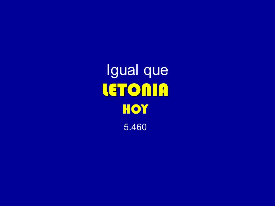 LETONIA Igual que LETONIA HOY 5.460