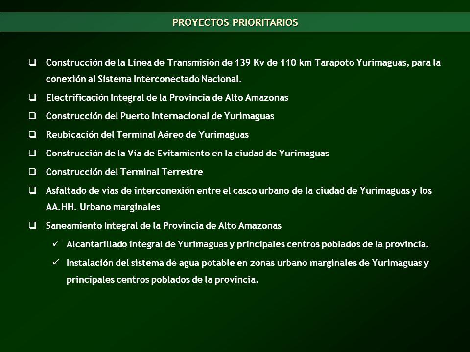 Construcción de la Línea de Transmisión de 139 Kv de 110 km Tarapoto Yurimaguas, para la conexión al Sistema Interconectado Nacional.