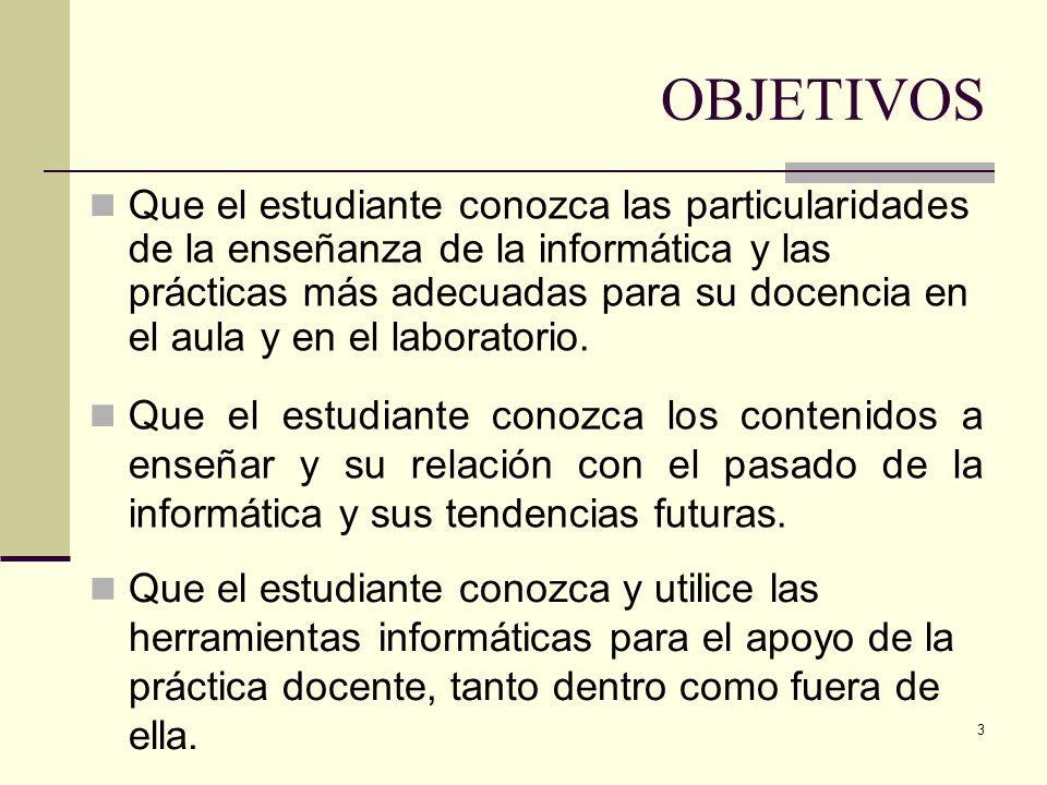 104 Ejemplo de unidad didáctica (CF) Objetivos: Analizar y valorar la importancia y necesidad del sistema operativo.