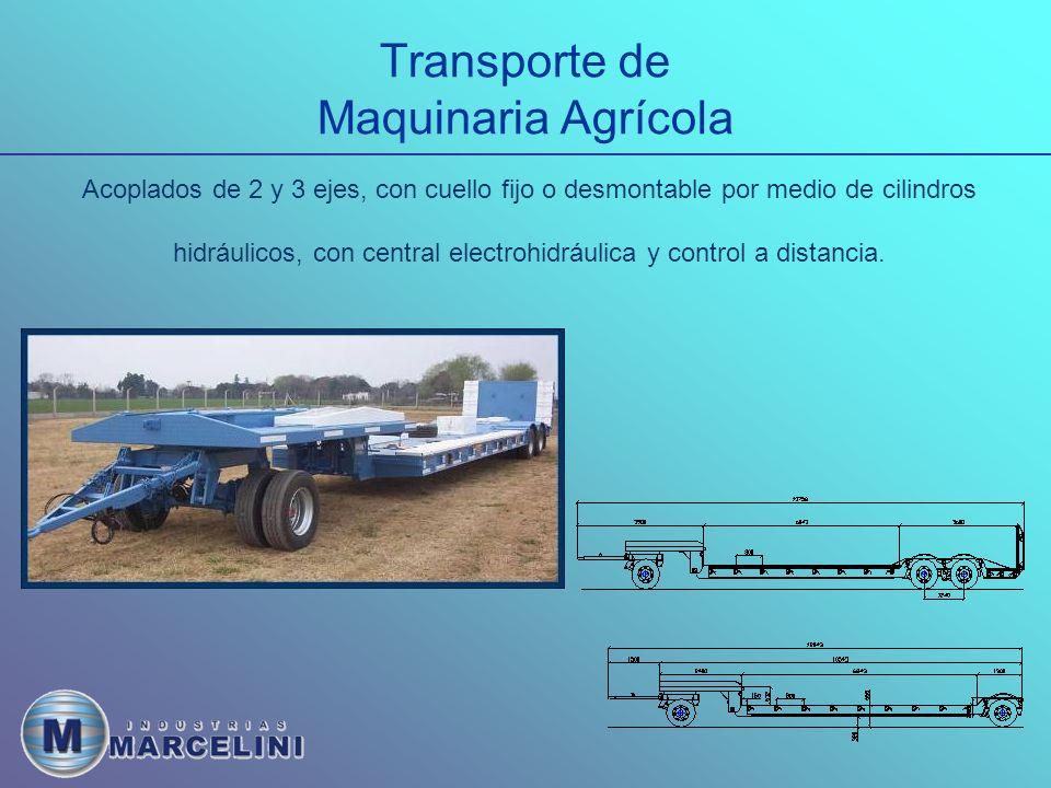 Transporte de Maquinaria Agrícola Semirremolques.1- Cantidad de ejes.