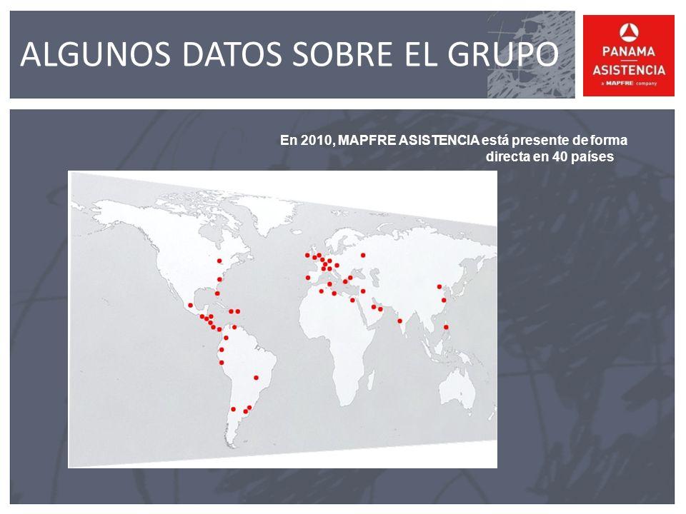 En 2010, MAPFRE ASISTENCIA está presente de forma directa en 40 países ALGUNOS DATOS SOBRE EL GRUPO