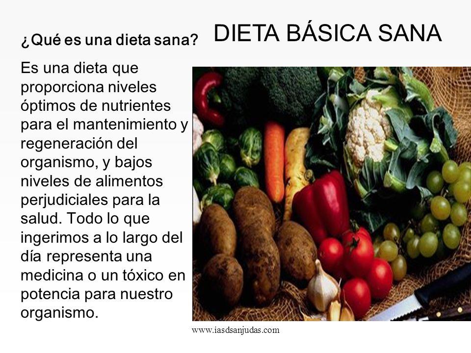 www.iasdsanjudas.com ¿Qué es una dieta sana.
