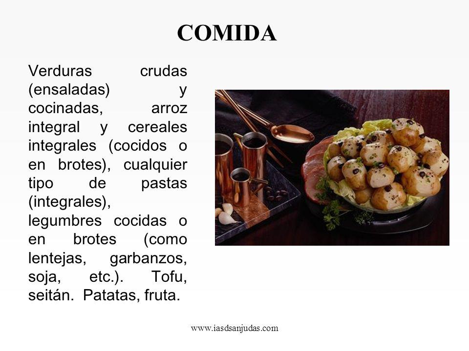 www.iasdsanjudas.com Almuerzo Fruta, pan integral, ( bocadillo) con queso, aceite de oliva tortilla española o francesa, tomate boquerones, etc..