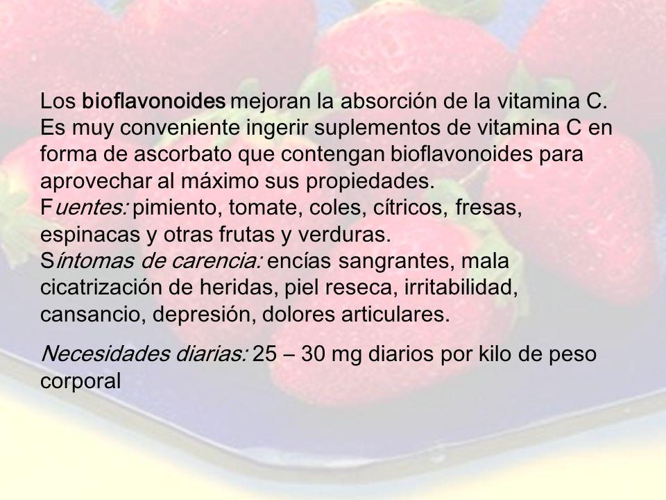 www.iasdsanjudas.com HIDROSOLUBLES: son solubles en agua. Las más representativas son la vitamina C y las del grupo B. Vitamina C Funciones: antioxida