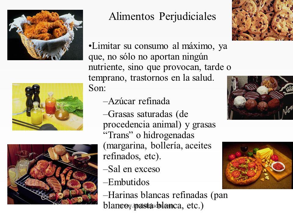 www.iasdsanjudas.com Limitar su consumo al máximo, ya que, no sólo no aportan ningún nutriente, sino que provocan, tarde o temprano, trastornos en la salud.