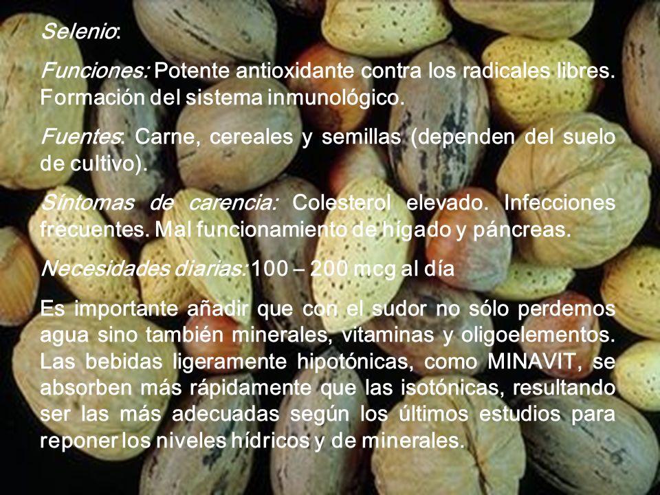 www.iasdsanjudas.com Síntomas de carencia: Acné, pérdida del gusto, infecciones frecuentes, piel descamada, irritabilidad, amnesia, reacciones paranoi