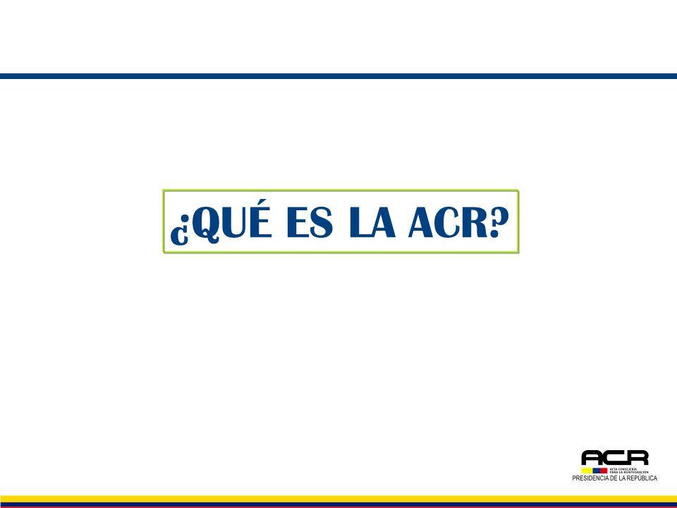 LA ALTA CONSEJERÍA PARA LA REINTEGRACIÓN SOCIAL Y ECONÓMICA DE PERSONAS Y GRUPOS ALZADOS EN ARMAS Creada por el Presidente de la República mediante el Decreto 3043 de 2006, en el marco de la política de seguridad democrática.