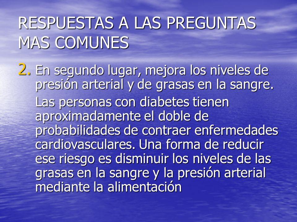 RESPUESTAS A LAS PREGUNTAS MAS COMUNES 2.