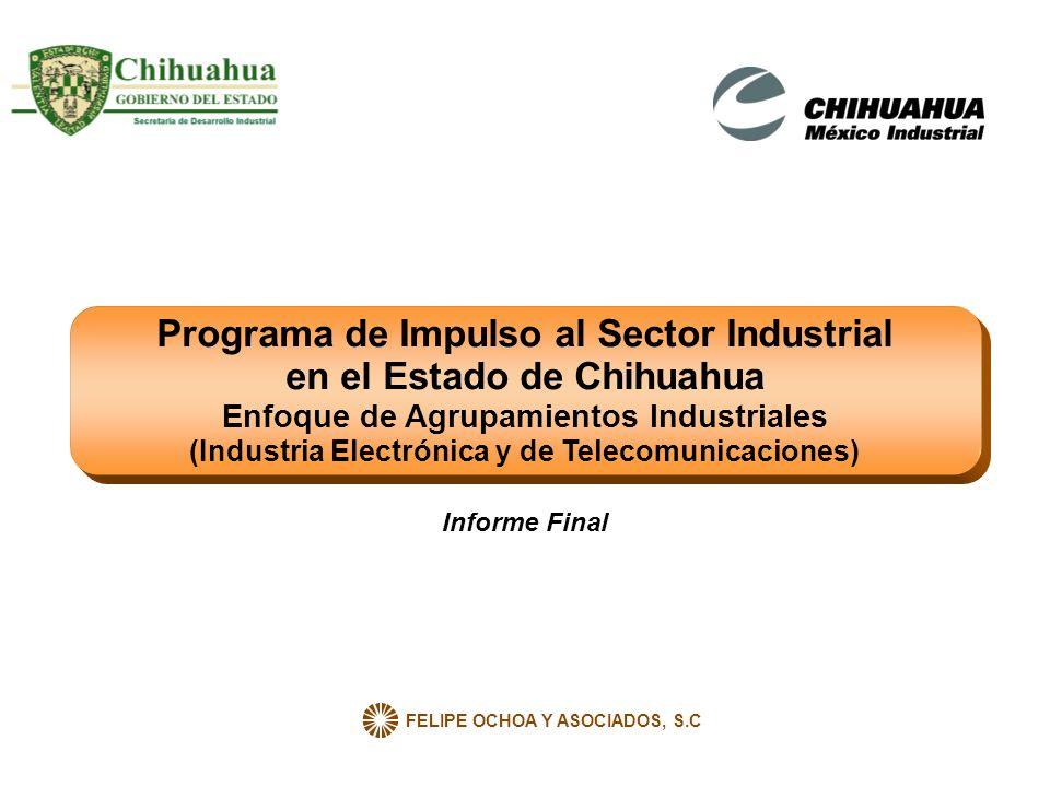 FELIPE OCHOA Y ASOCIADOS, S.C Programa de Impulso al Sector Industrial en el Estado de Chihuahua Enfoque de Agrupamientos Industriales (Industria Elec
