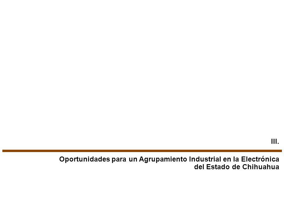 Oportunidades para un Agrupamiento Industrial en la Electrónica del Estado de Chihuahua III.