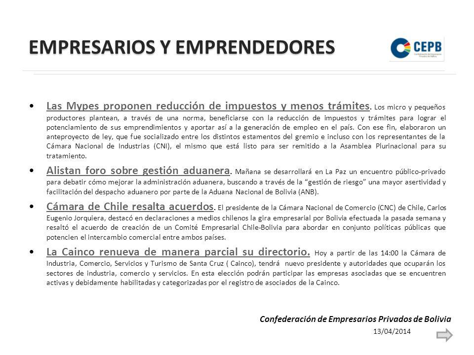 EMPRESARIOS Y EMPRENDEDORES Textileros bolivianos buscan negocios por 300 mil dólares.