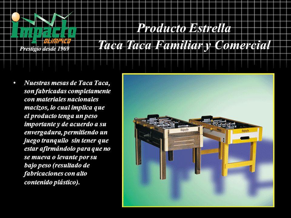 Nuestras mesas de Taca Taca, son fabricadas completamente con materiales nacionales macizos, lo cual implica que el producto tenga un peso importante