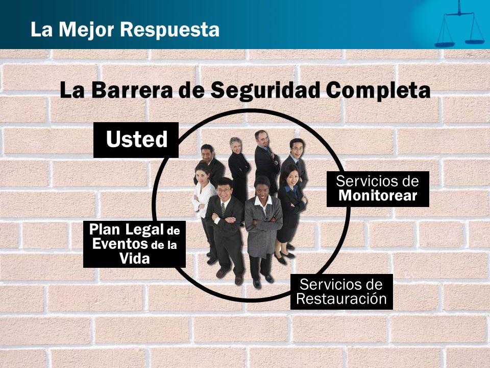 La Barrera de Seguridad Completa La Mejor Respuesta Plan Legal de Eventos de la Vida Usted Servicios de Monitorear Servicios de Restauración