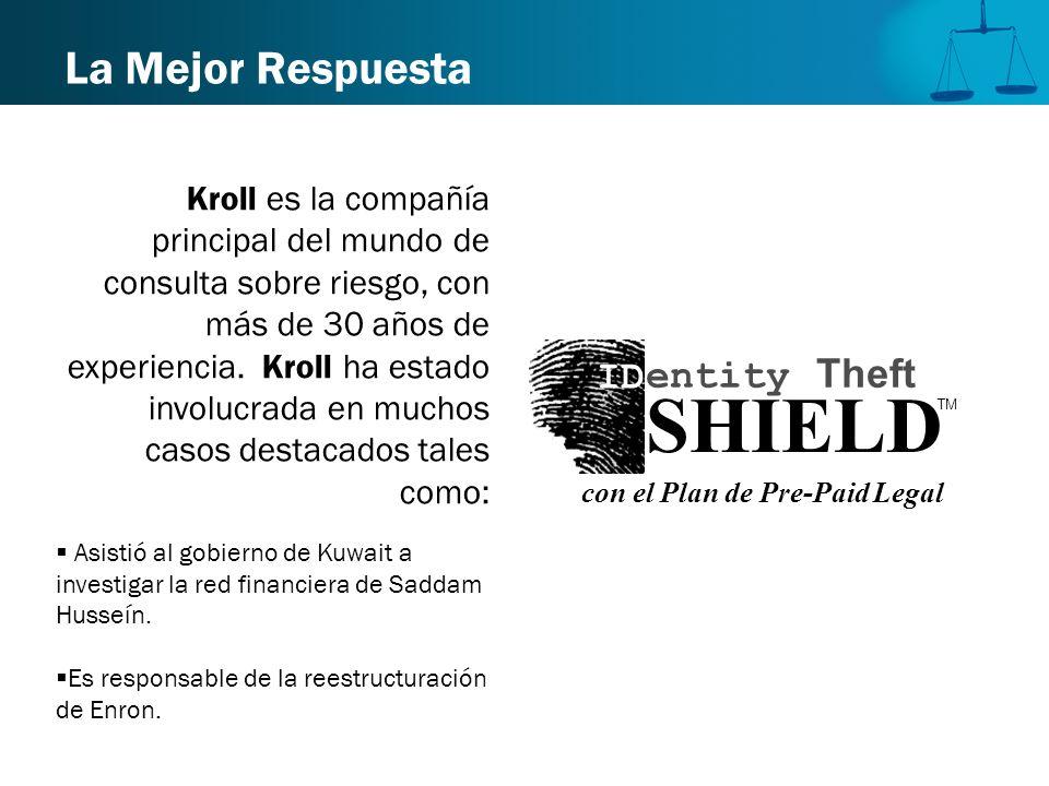 La Mejor Respuesta Kroll es la compañía principal del mundo de consulta sobre riesgo, con más de 30 años de experiencia. Kroll ha estado involucrada e