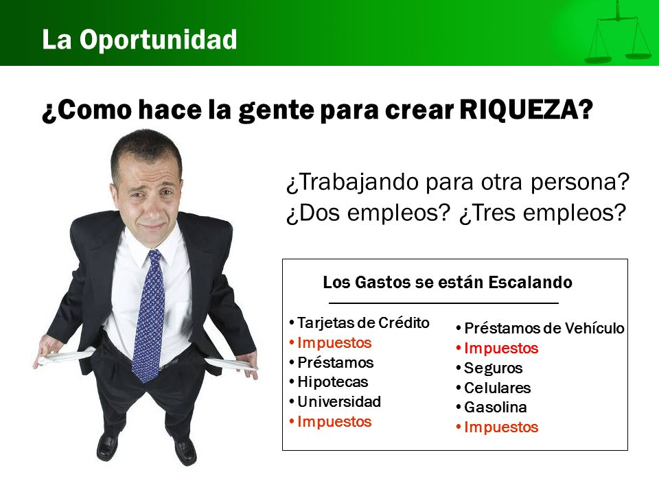 ¿Como hace la gente para crear RIQUEZA? ¿Trabajando para otra persona? ¿Dos empleos? ¿Tres empleos? Los Gastos se están Escalando Tarjetas de Crédito