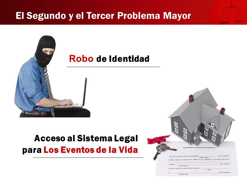 El Segundo y el Tercer Problema Mayor Robo de Identidad Acceso al Sistema Legal para Los Eventos de la Vida