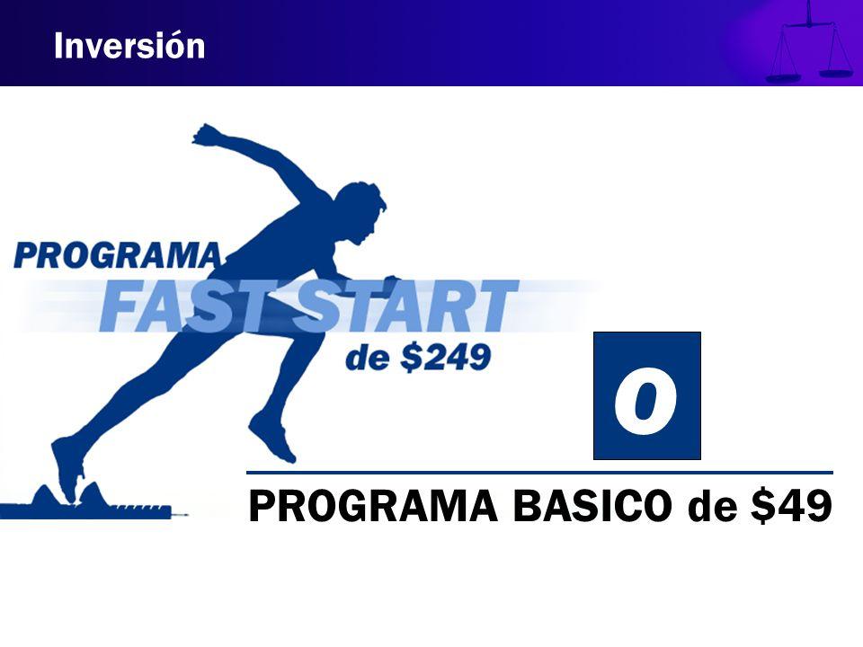 Inversión PROGRAMA BASICO de $49 O