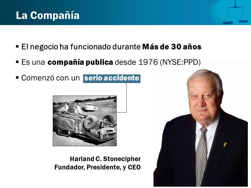 La Compañía Harland C. Stonecipher Fundador, Presidente, y CEO El negocio ha funcionado durante Más de 30 años Es una compañía publica desde 1976 (NYS