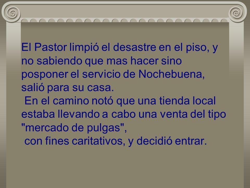 El día 21 el Pastor fue a ver la iglesia. Su corazón se contrajo cuando vio que el agua se había filtrado a través del techo, causando que una área co