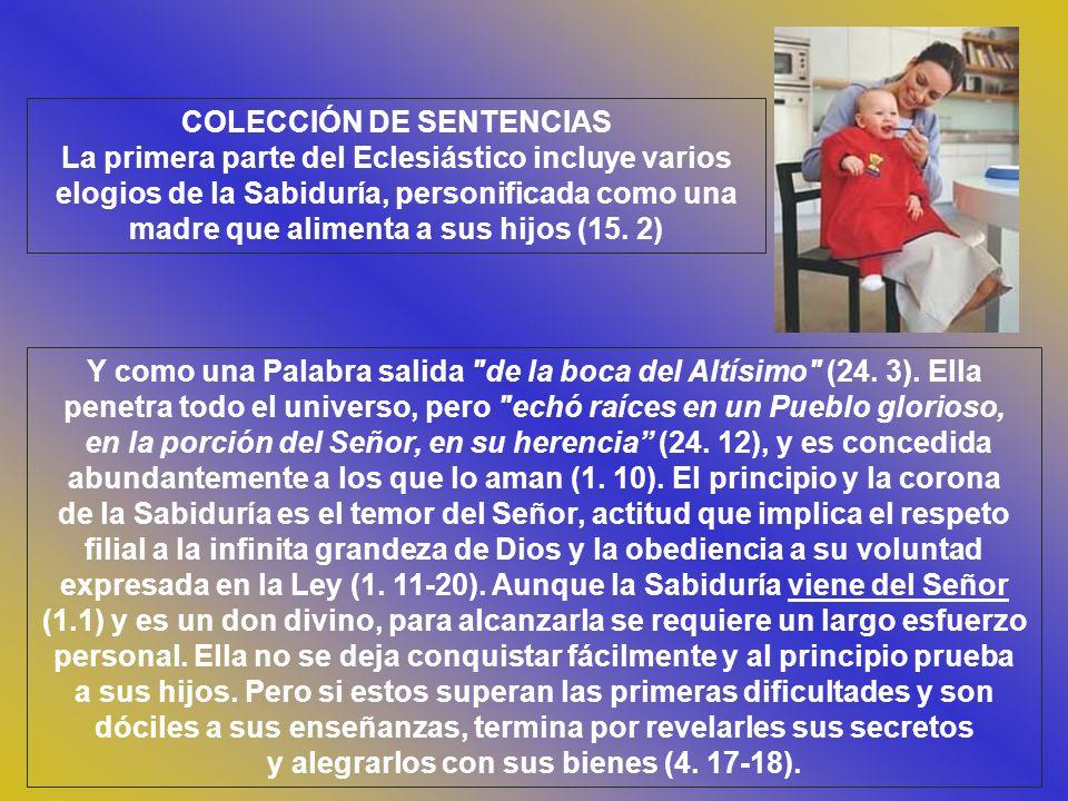 Cap.25 TRES COSAS DESEABLES Y TRES ABORRECIBLES.