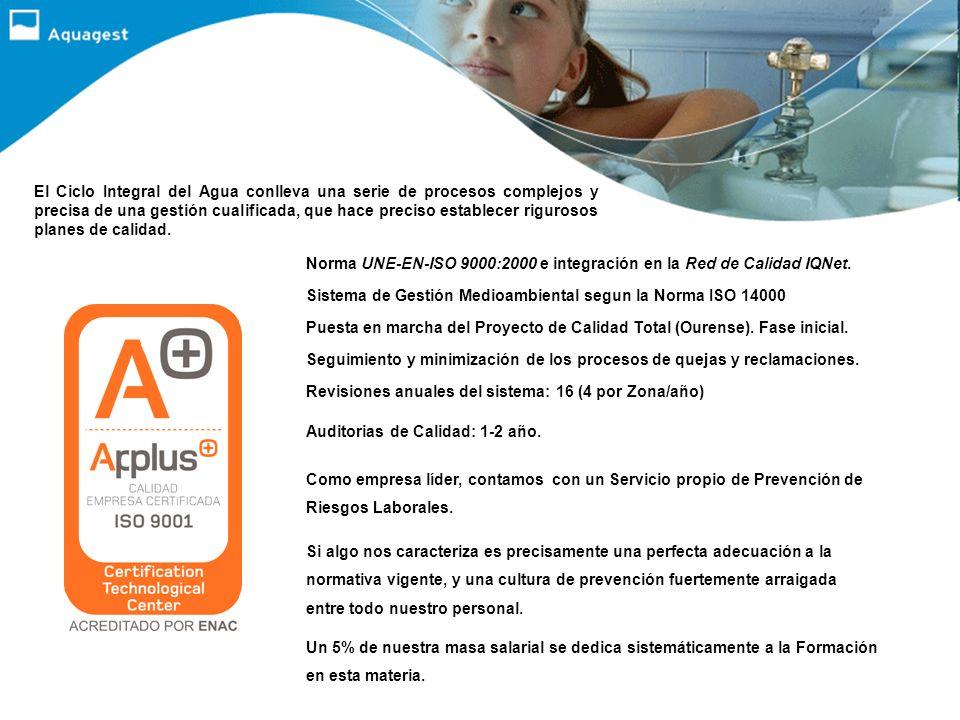 En la actualidad, Aquagest gestiona los servicios de abastecimiento de agua, saneamiento o depuración en cincuenta y siete ayuntamientos gallegos, alg