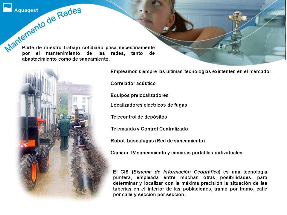 Aquagest gestiona en la Comunidad Autónoma de Galicia un total de: 74 plantas de tratamiento de agua. Más de un millón de personas abastecidas en perí