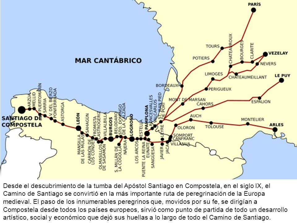 Desde el descubrimiento de la tumba del Apóstol Santiago en Compostela, en el siglo IX, el Camino de Santiago se convirtió en la más importante ruta d