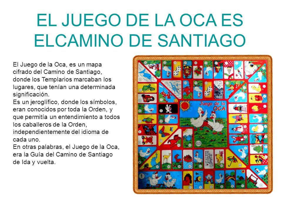 EL JUEGO DE LA OCA ES ELCAMINO DE SANTIAGO El Juego de la Oca, es un mapa cifrado del Camino de Santiago, donde los Templarios marcaban los lugares, q