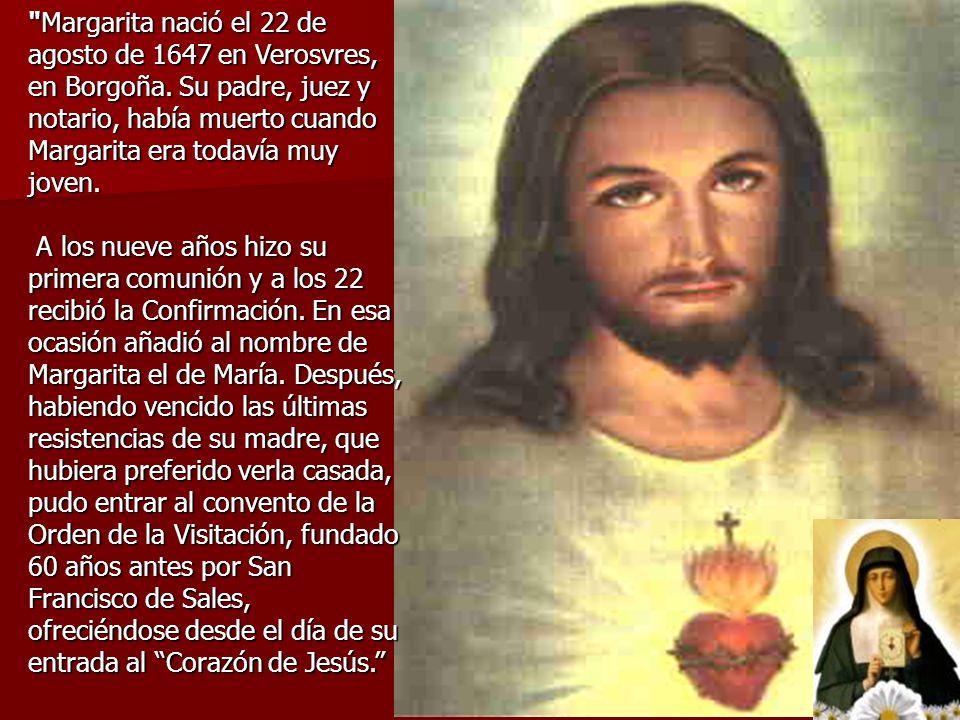 El Corazón de Jesús y Santa Margarita María Alacoque. Fiesta: 16 de octubre.