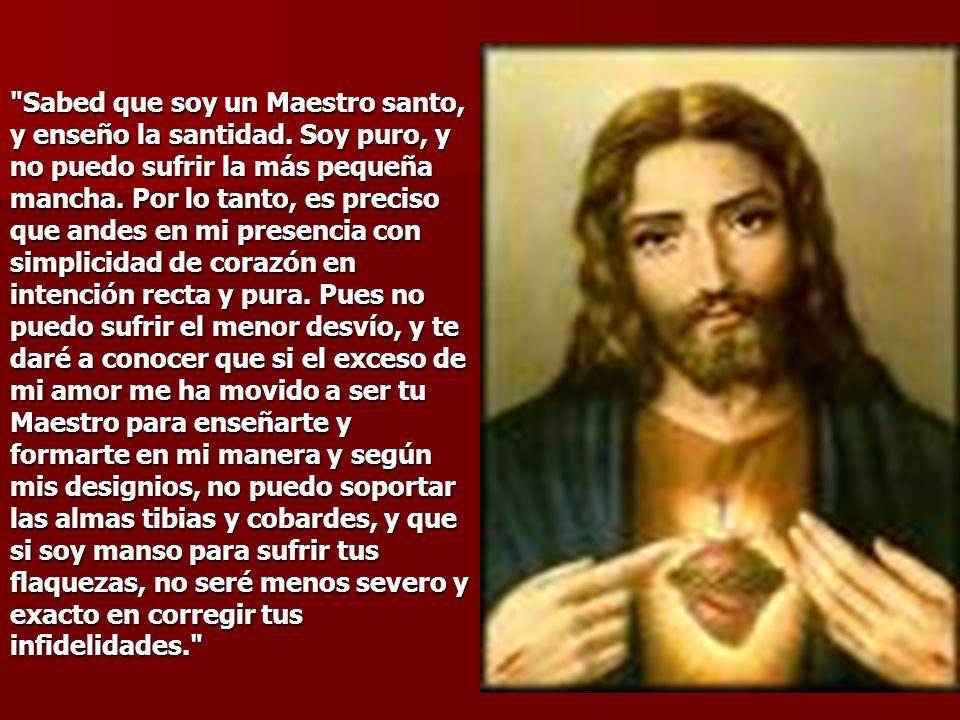 Mira este corazón mío, que a pesar de consumirse en amor abrasador por los hombres, no recibe de los cristianos otra cosa que sacrilegio, desprecio, i