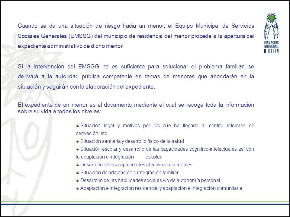 Cuando se da una situación de riesgo hacia un menor, el Equipo Municipal de Servicios Sociales Generales (EMSSG) del municipio de residencia del menor