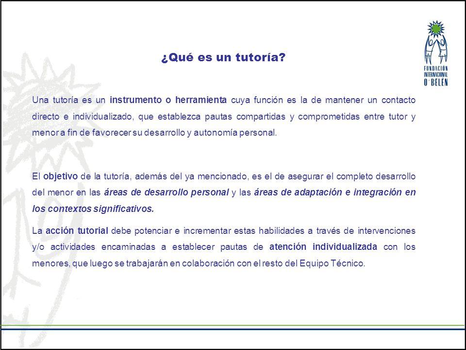 ¿Qué es un tutoría? Una tutoría es un instrumento o herramienta cuya función es la de mantener un contacto directo e individualizado, que establezca p
