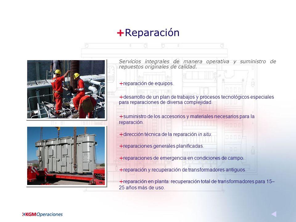 + +Reparación Servicios integrales de manera operativa y suministro de repuestos originales de calidad.
