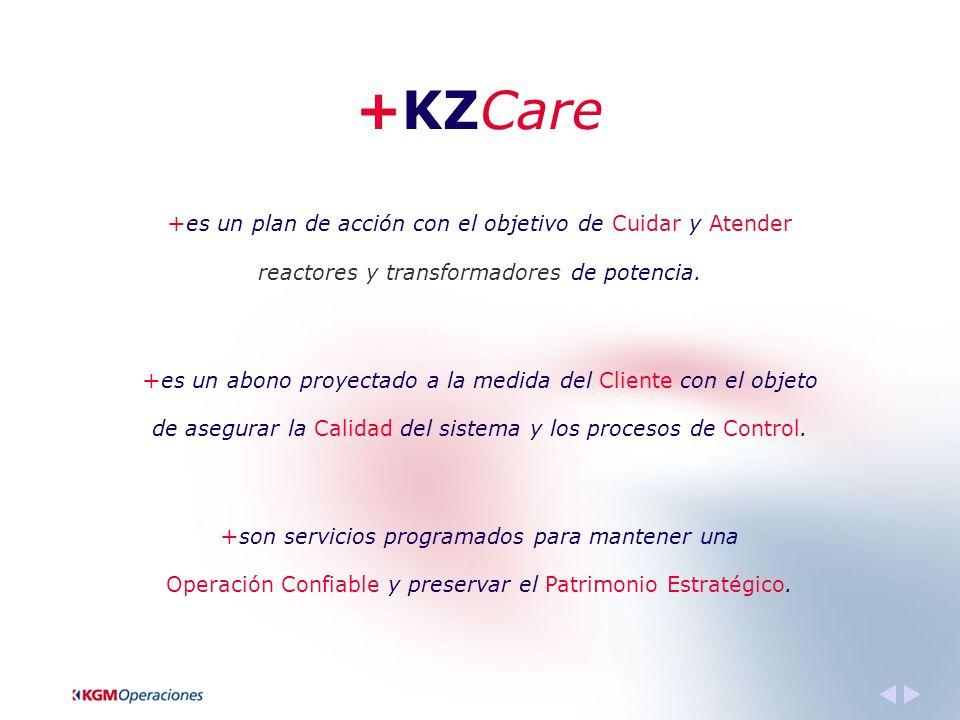 +KZCare + es un plan de acción con el objetivo de Cuidar y Atender reactores y transformadores de potencia.
