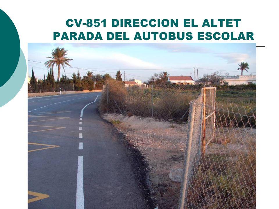 CV-851 DIRECCION EL ALTET PARADA DEL AUTOBUS ESCOLAR