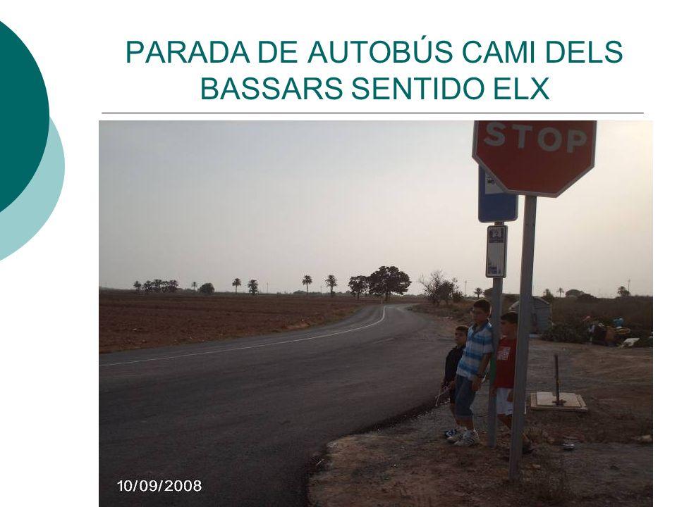 PARADA DE AUTOBÚS CAMI DELS BASSARS SENTIDO ELX