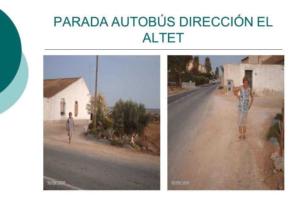 PARADA AUTOBÚS DIRECCIÓN EL ALTET