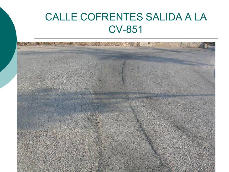 CALLE COFRENTES SALIDA A LA CV-851