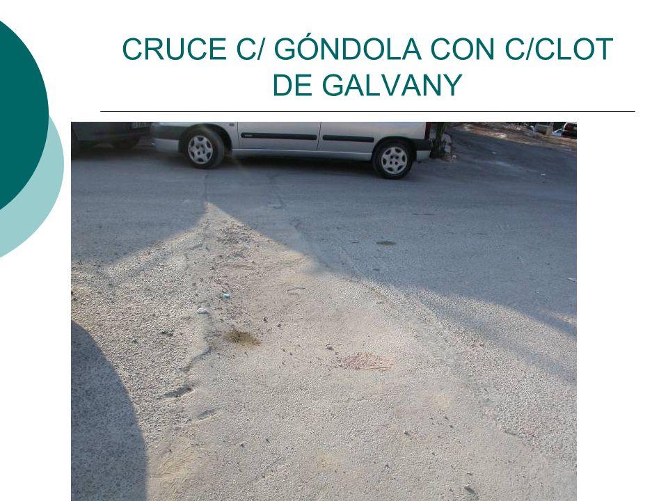 CRUCE C/ GÓNDOLA CON C/CLOT DE GALVANY