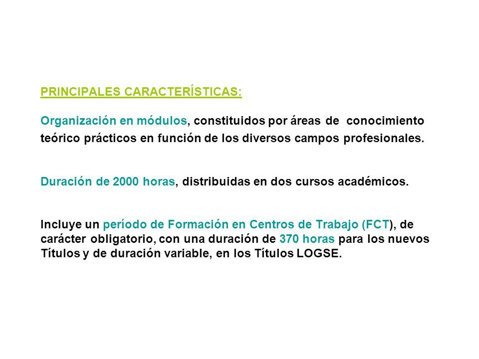 FORMACIÓN PROFESIONAL (CICLOS FORMATIVOS) La Formación profesional, que se organiza en Ciclos Formativos de Grado Medio y de Grado Superior, proporcio