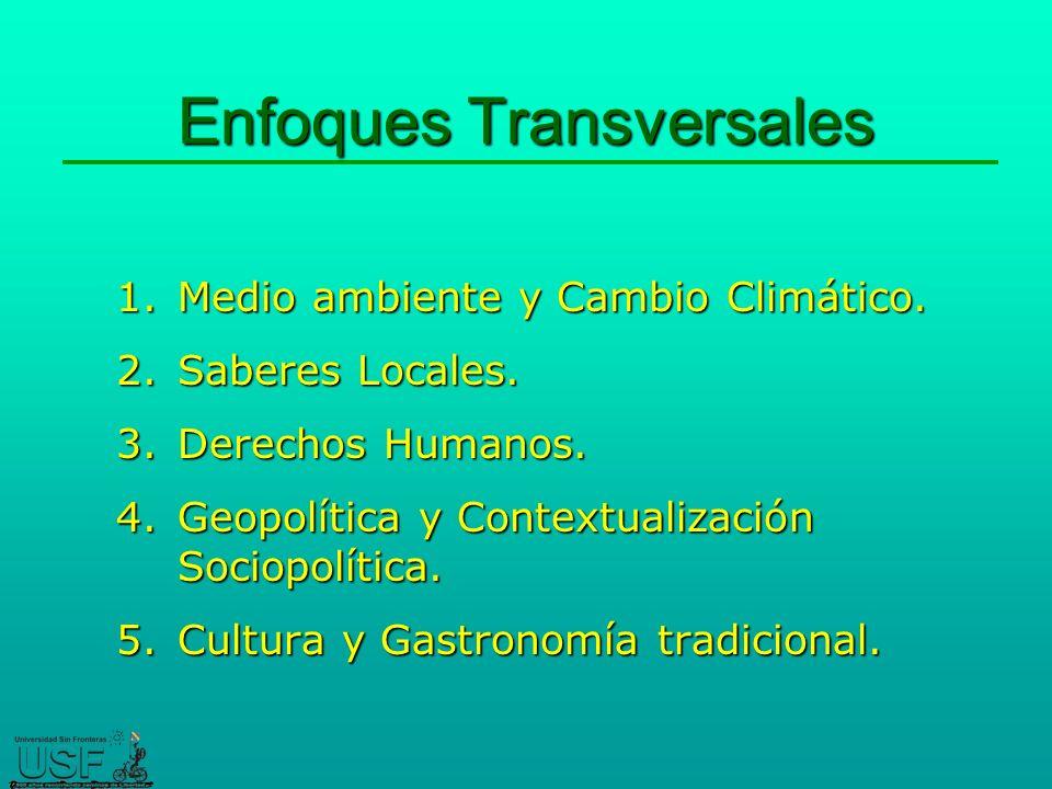 Enfoques Transversales 1.Medio ambiente y Cambio Climático.