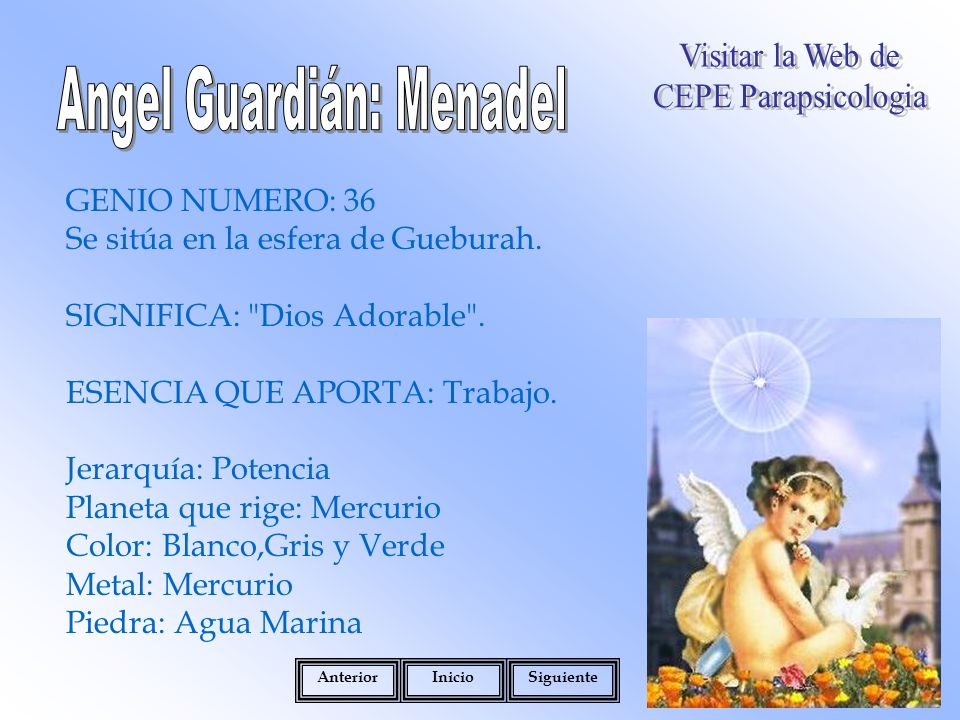 GENIO NUMERO: 36 Se sitúa en la esfera de Gueburah.
